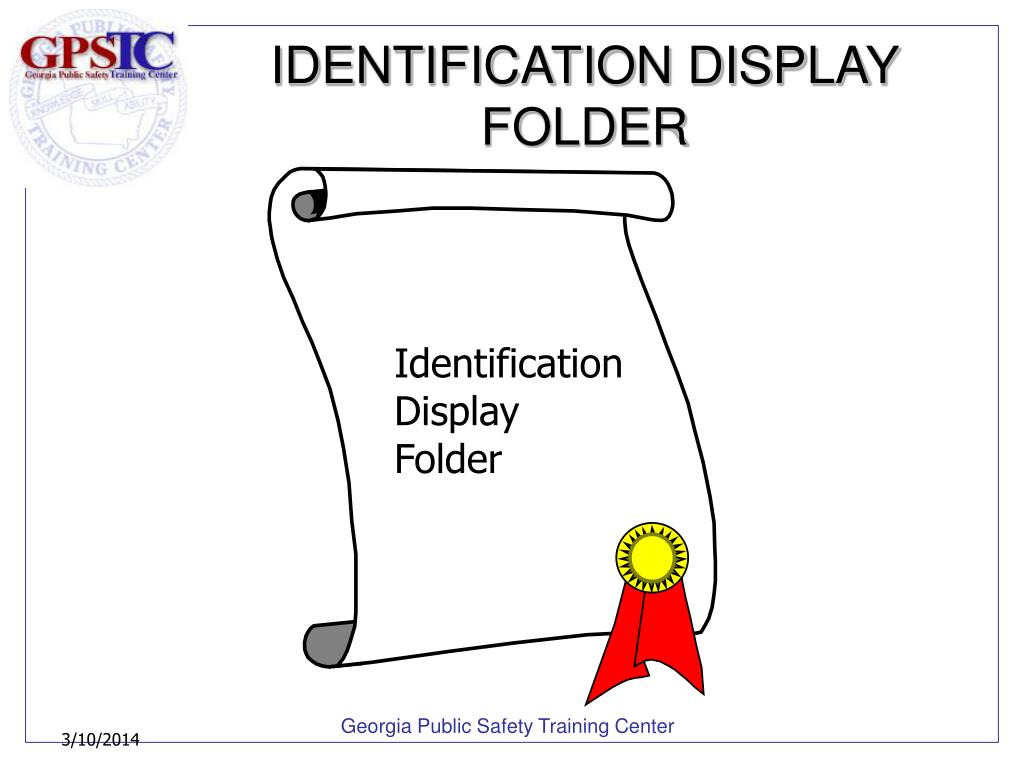 IDENTIFICATION DISPLAY FOLDER