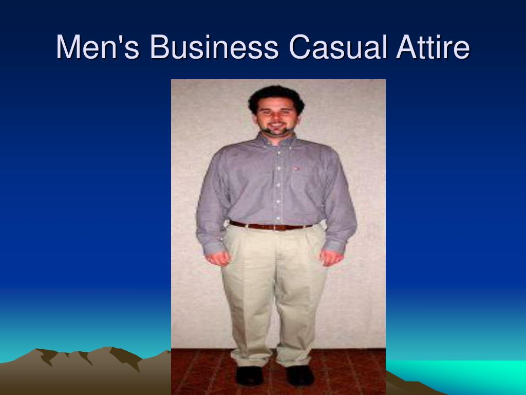 Men's Business Casual Attire