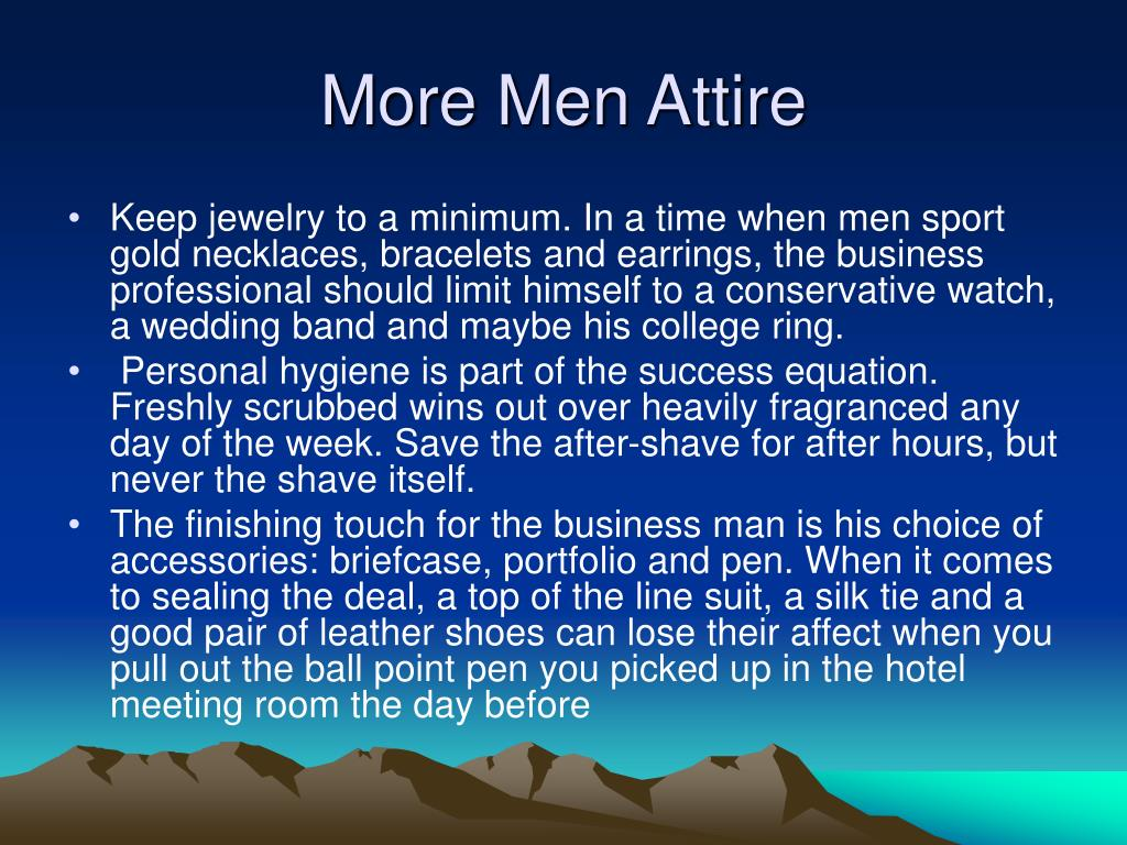 More Men Attire