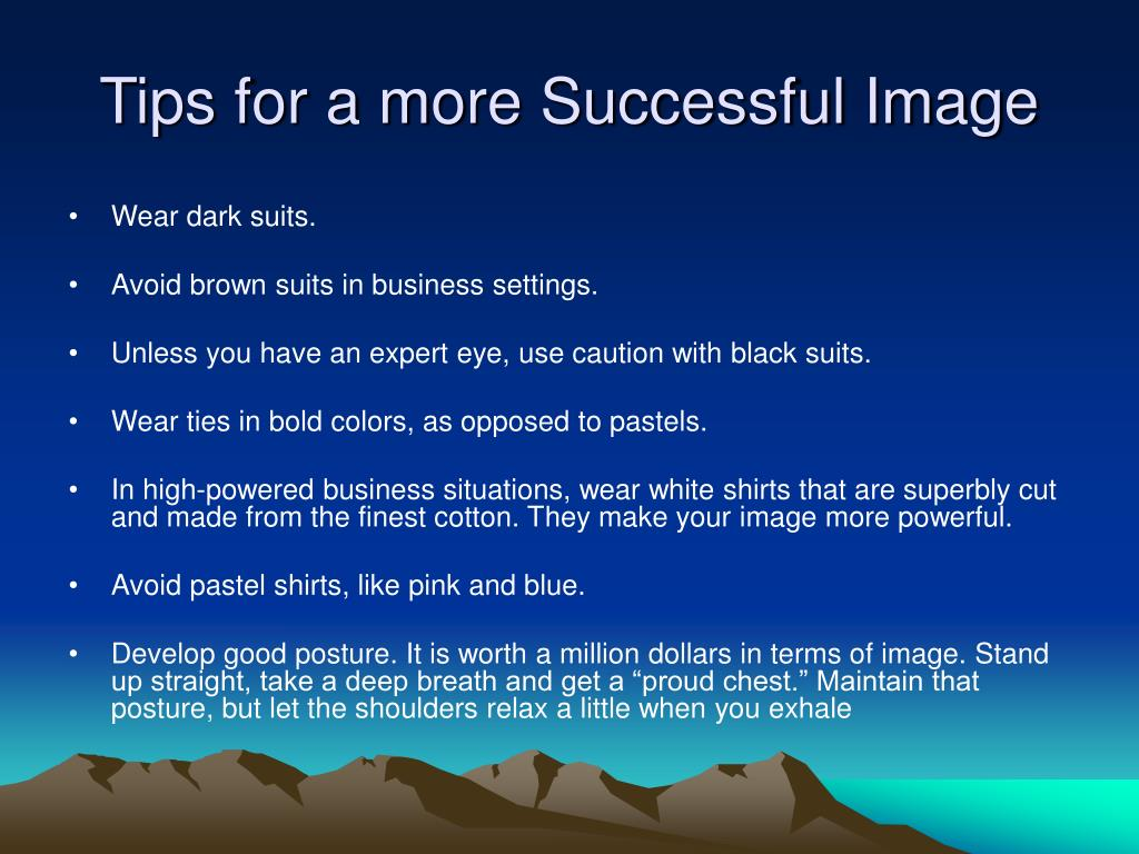 Tips for a more Successful Image