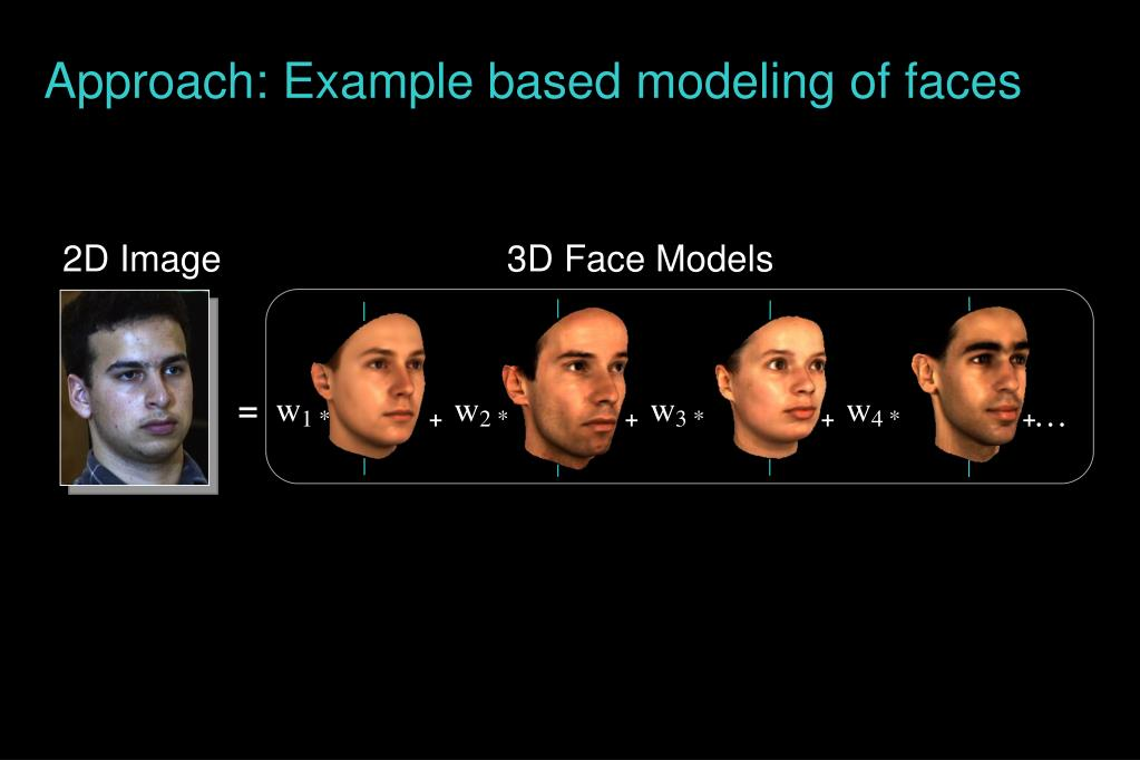 Approach: Example based modeling of faces