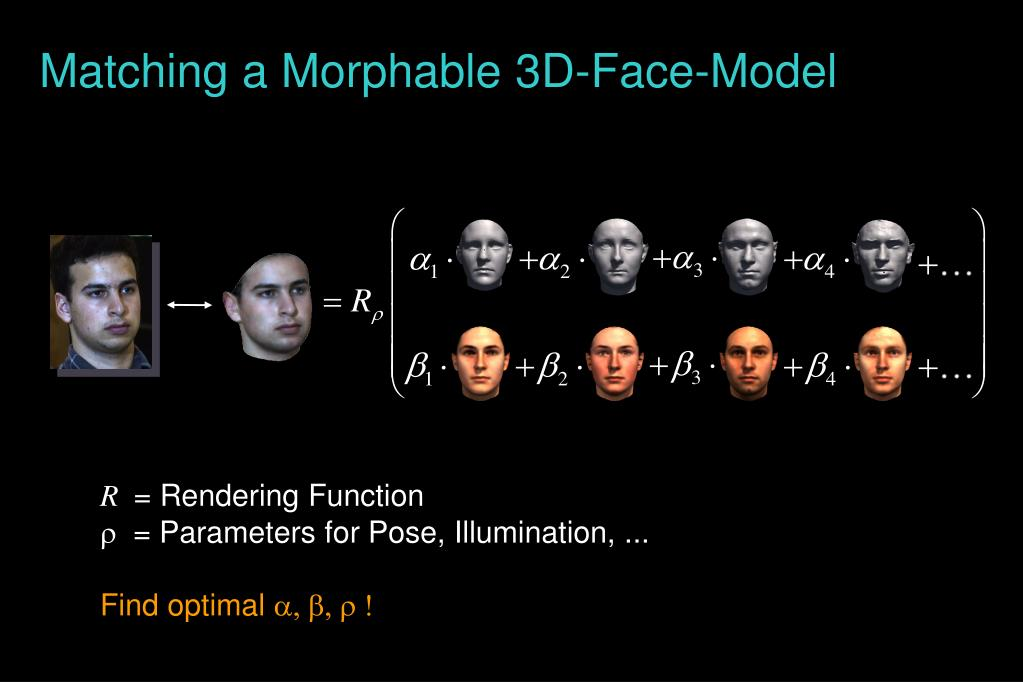 Matching a Morphable 3D-Face-Model