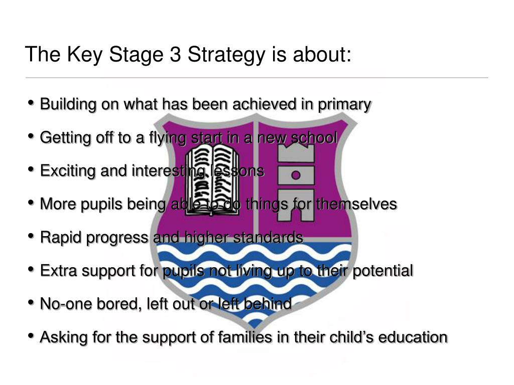 The Key Stage 3 Strategy is about: