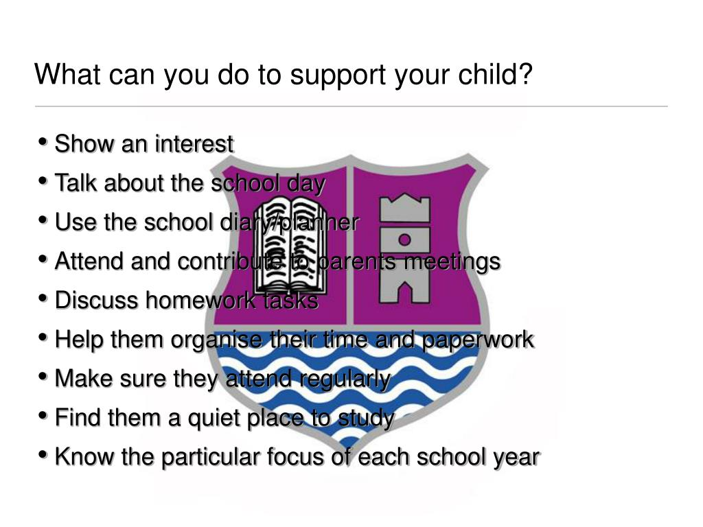 What can you do to support your child?
