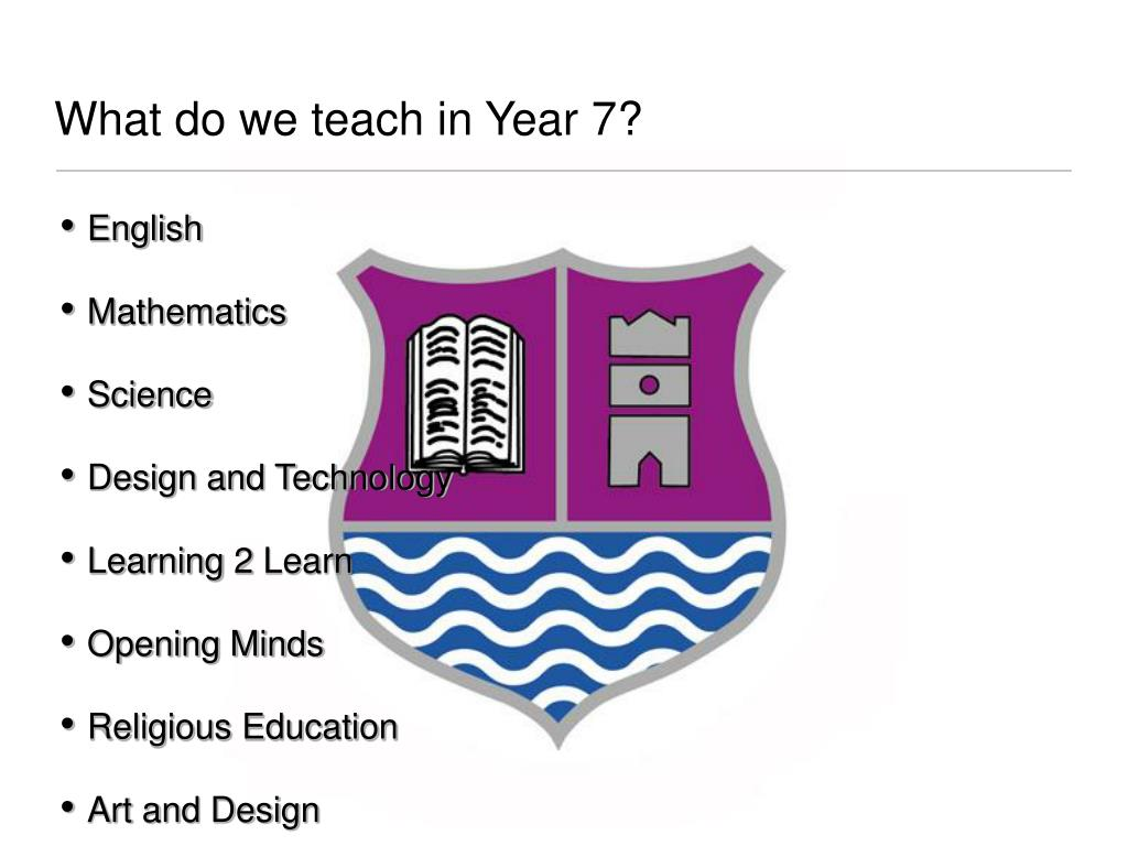 What do we teach in Year 7?