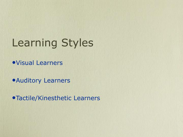 my learning style is auditory essay