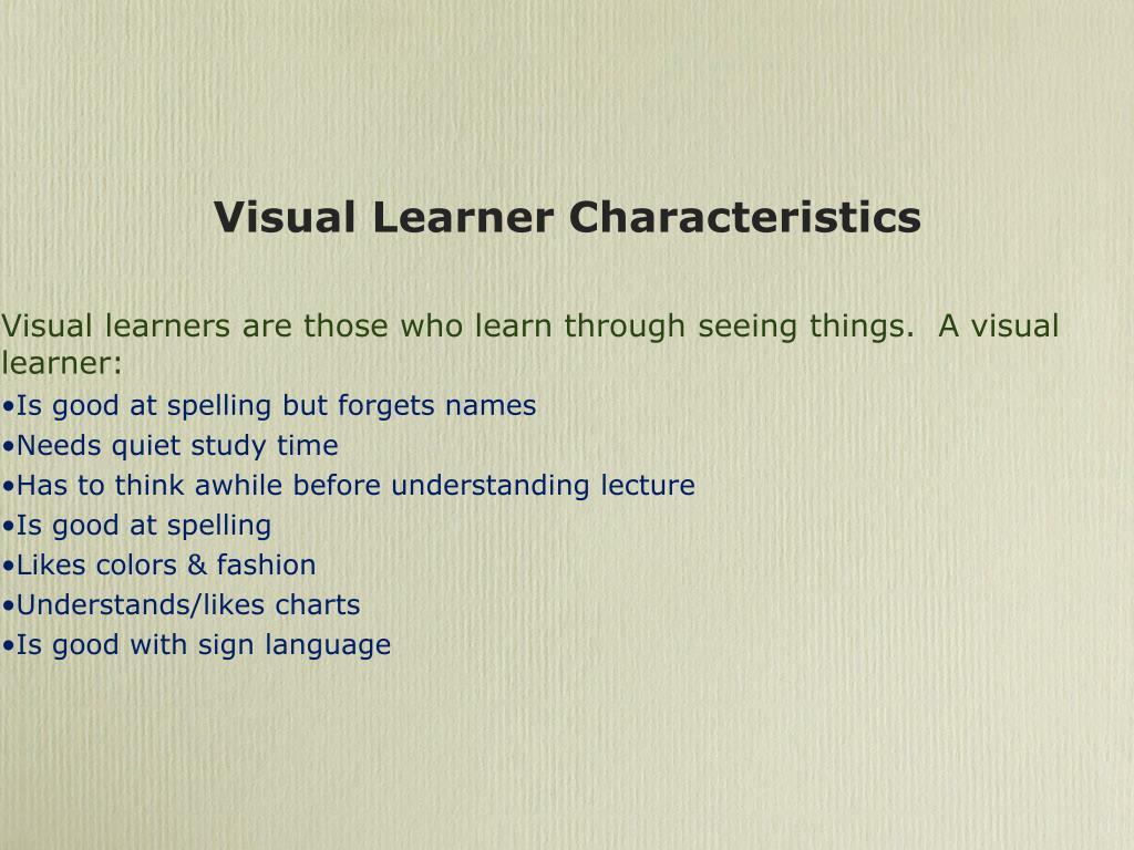 Visual Learner Characteristics