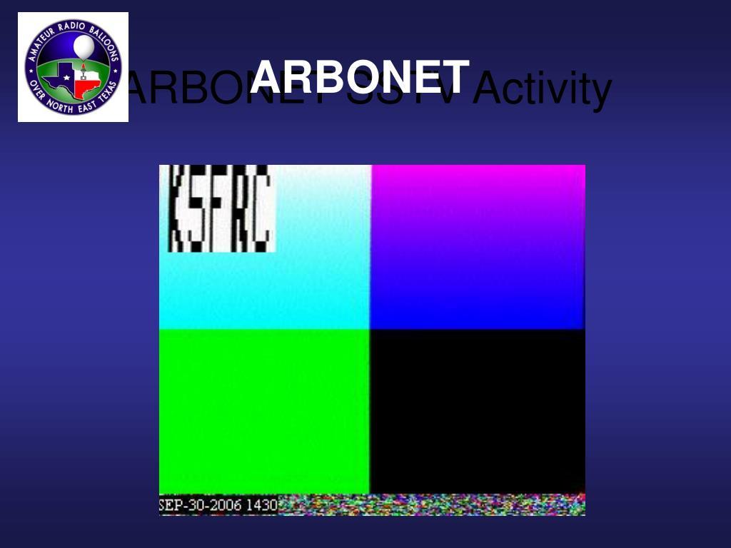 ARBONET SSTV Activity