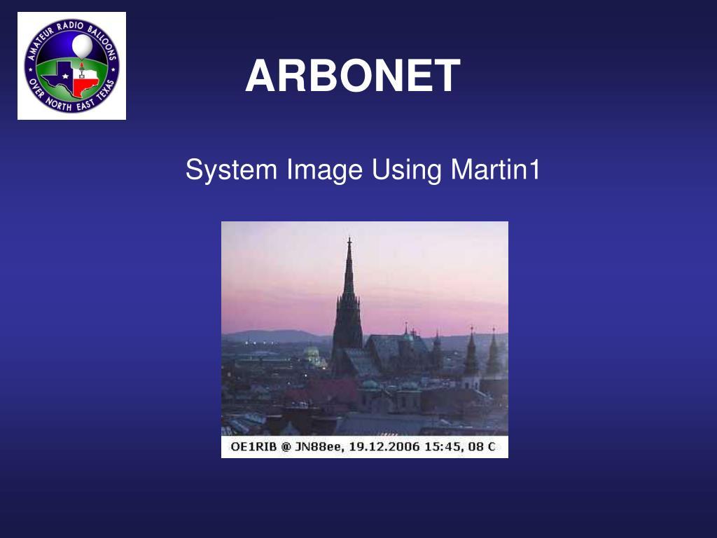 System Image Using Martin1