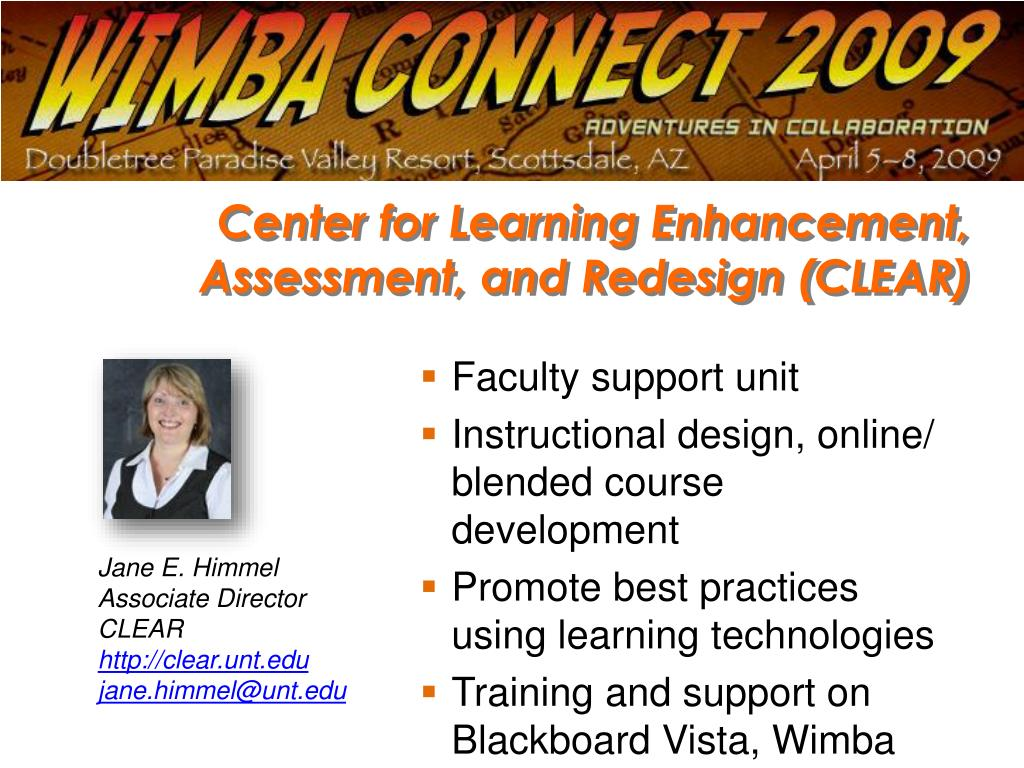 Center for Learning Enhancement, Assessment, and Redesign (CLEAR)