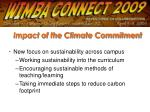 impact of the climate commitment