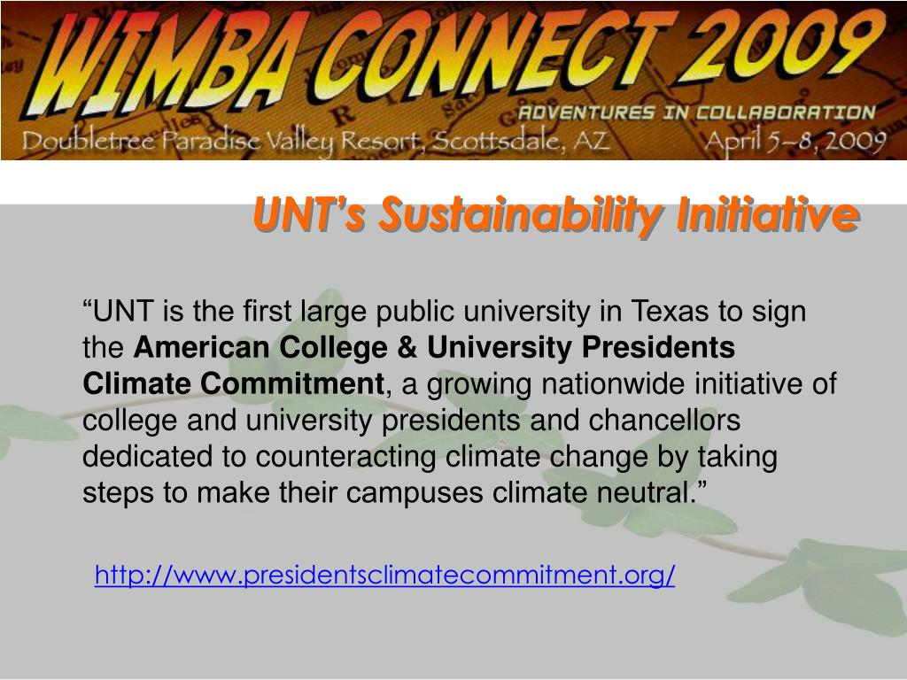 UNT's Sustainability Initiative