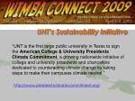 unt s sustainability initiative