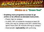 wimba as a green tool