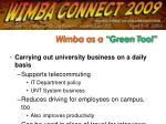 wimba as a green tool10