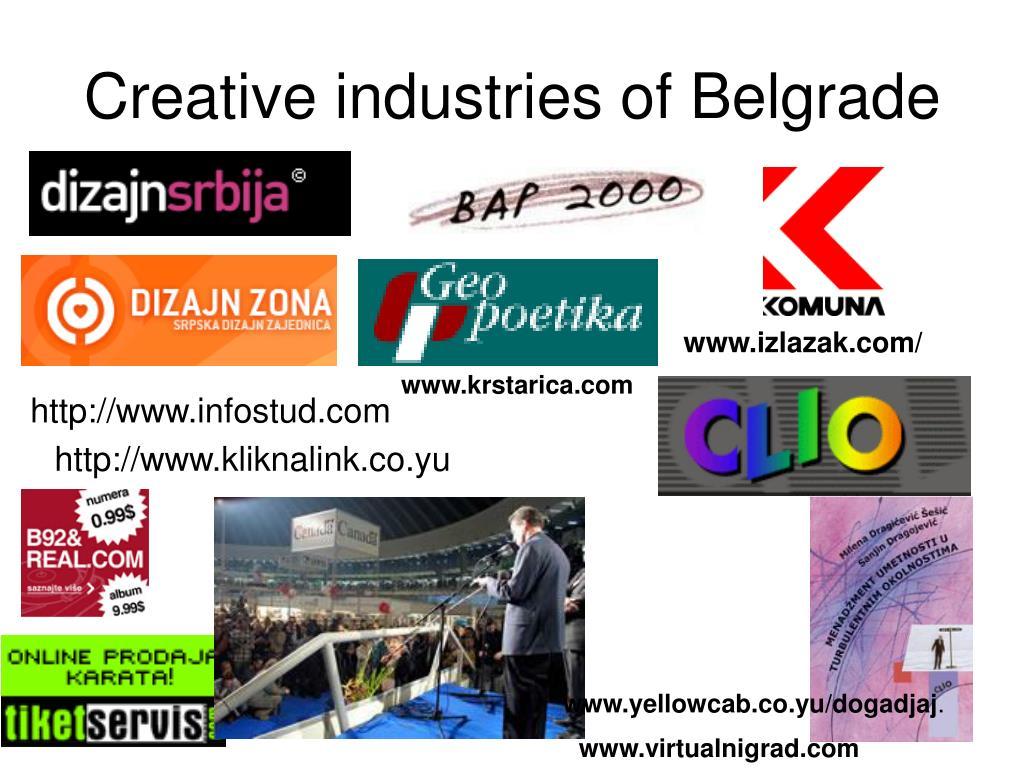 Creative industries of Belgrade