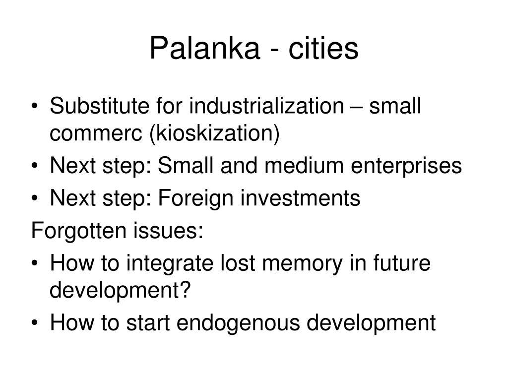 Palanka - cities