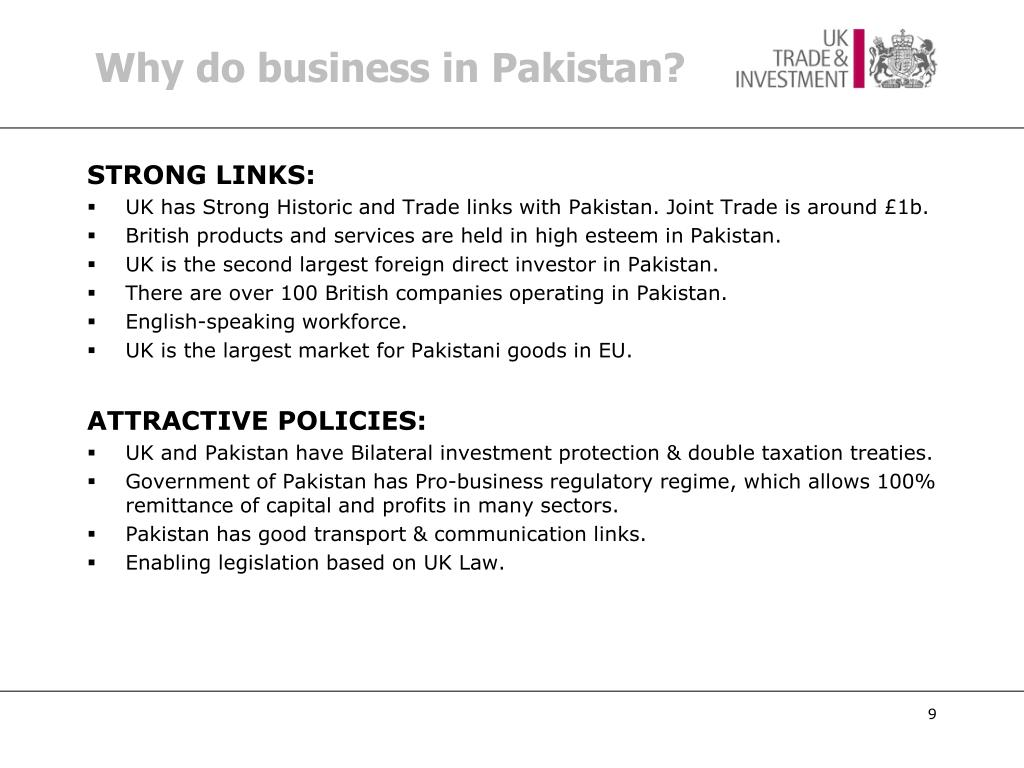 Why do business in Pakistan?