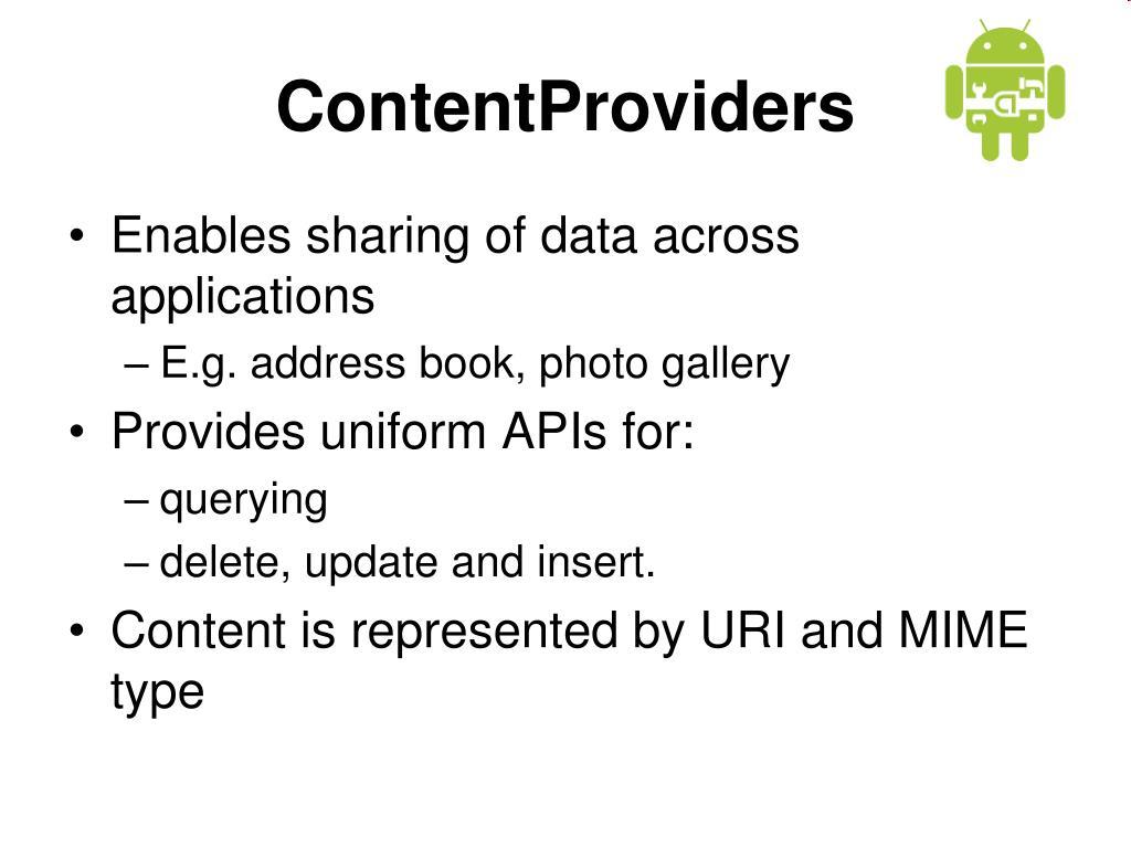 ContentProviders