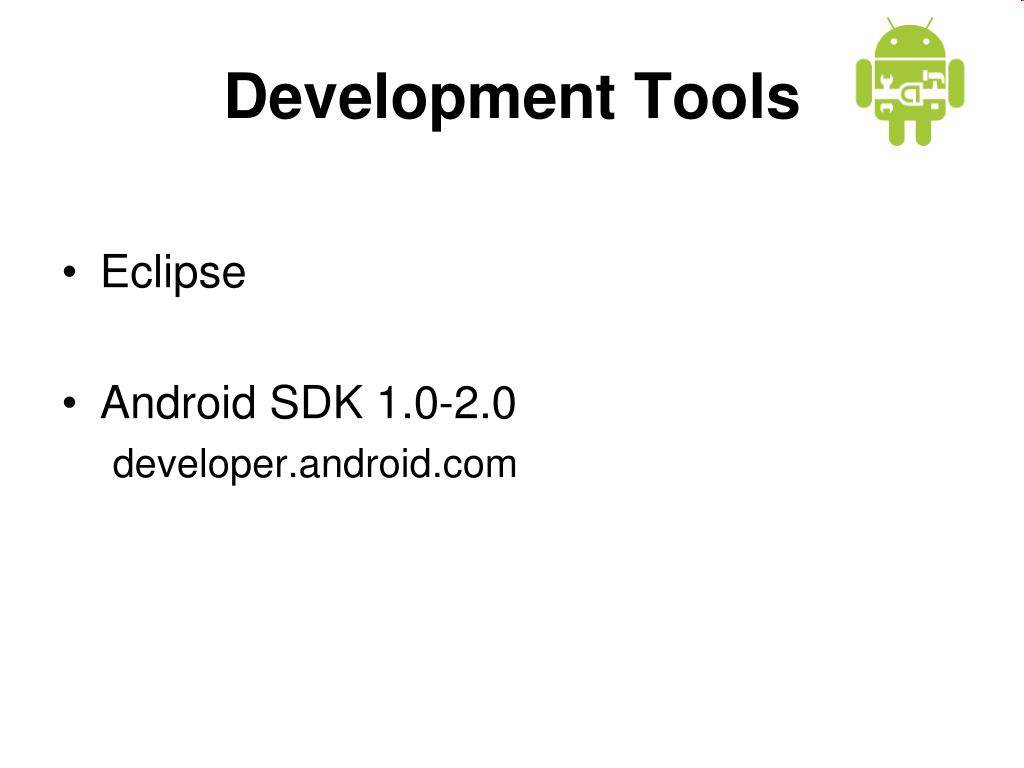 Development Tools