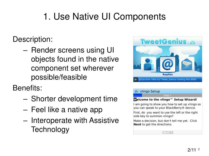 1 use native ui components