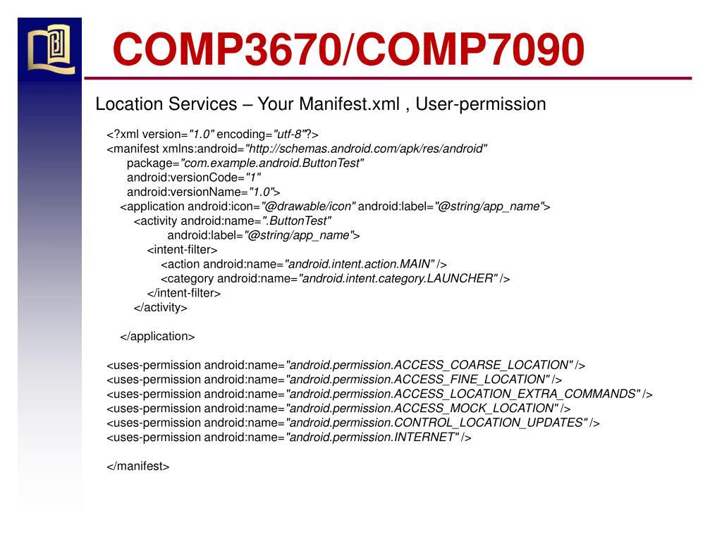 COMP3670/COMP7090