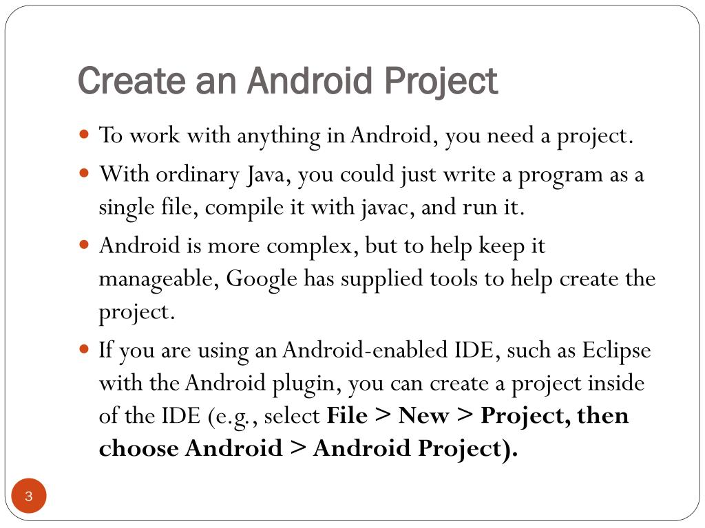 Create an Android Project