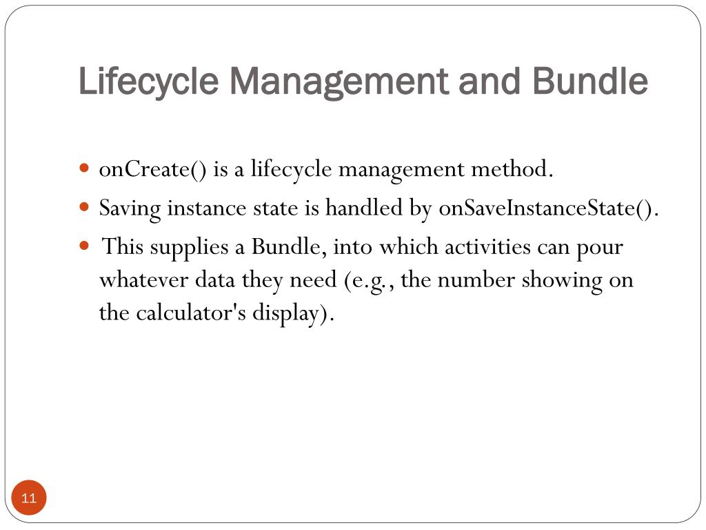 Lifecycle Management and Bundle