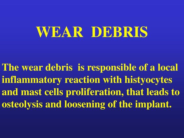 WEAR  DEBRIS