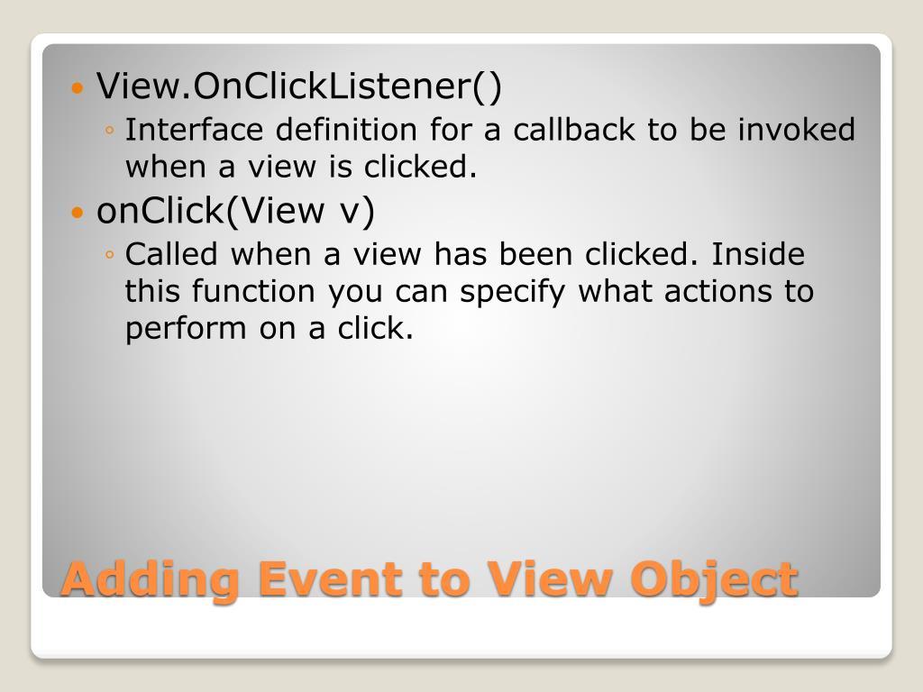 View.OnClickListener()