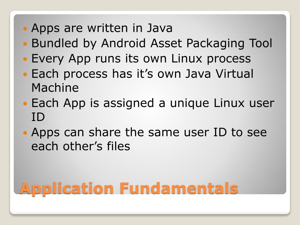 Apps are written in Java