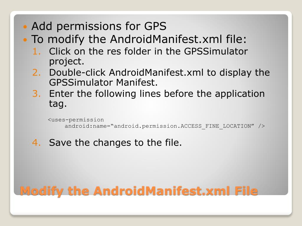 Add permissions for GPS