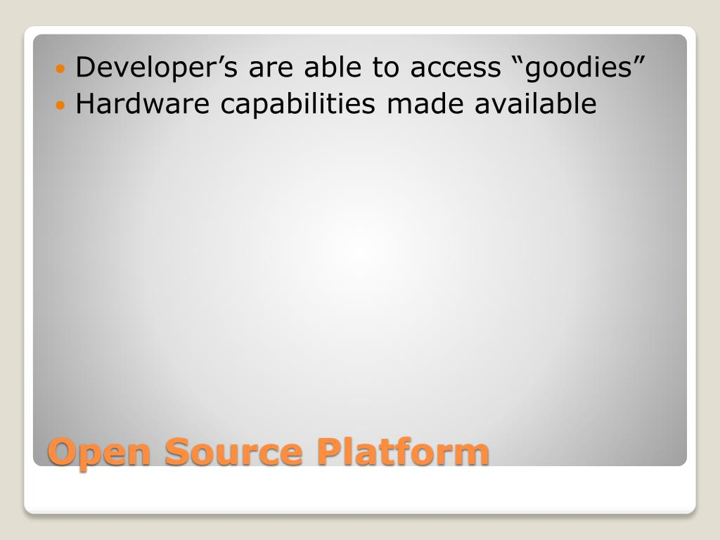 """Developer's are able to access """"goodies"""""""