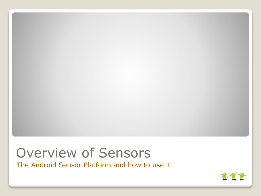 Overview of Sensors