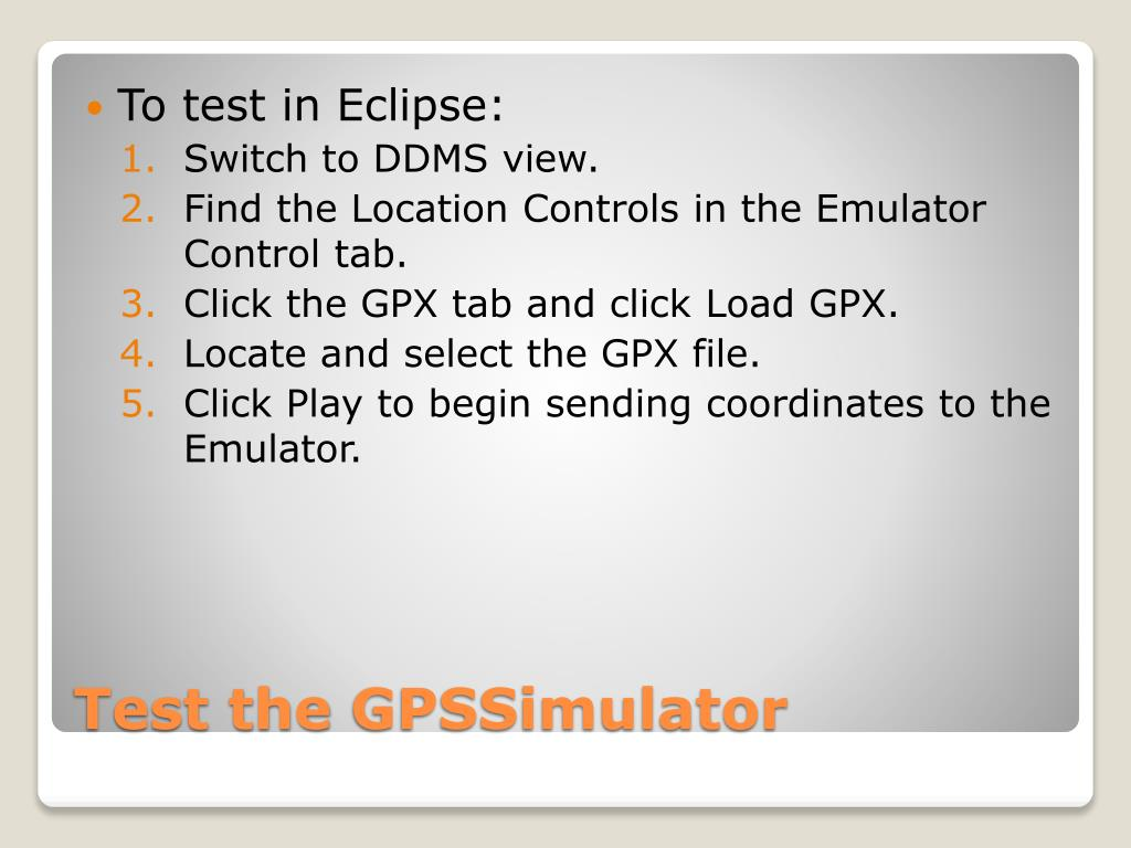 To test in Eclipse: