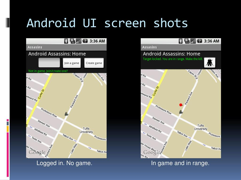 Android UI screen shots