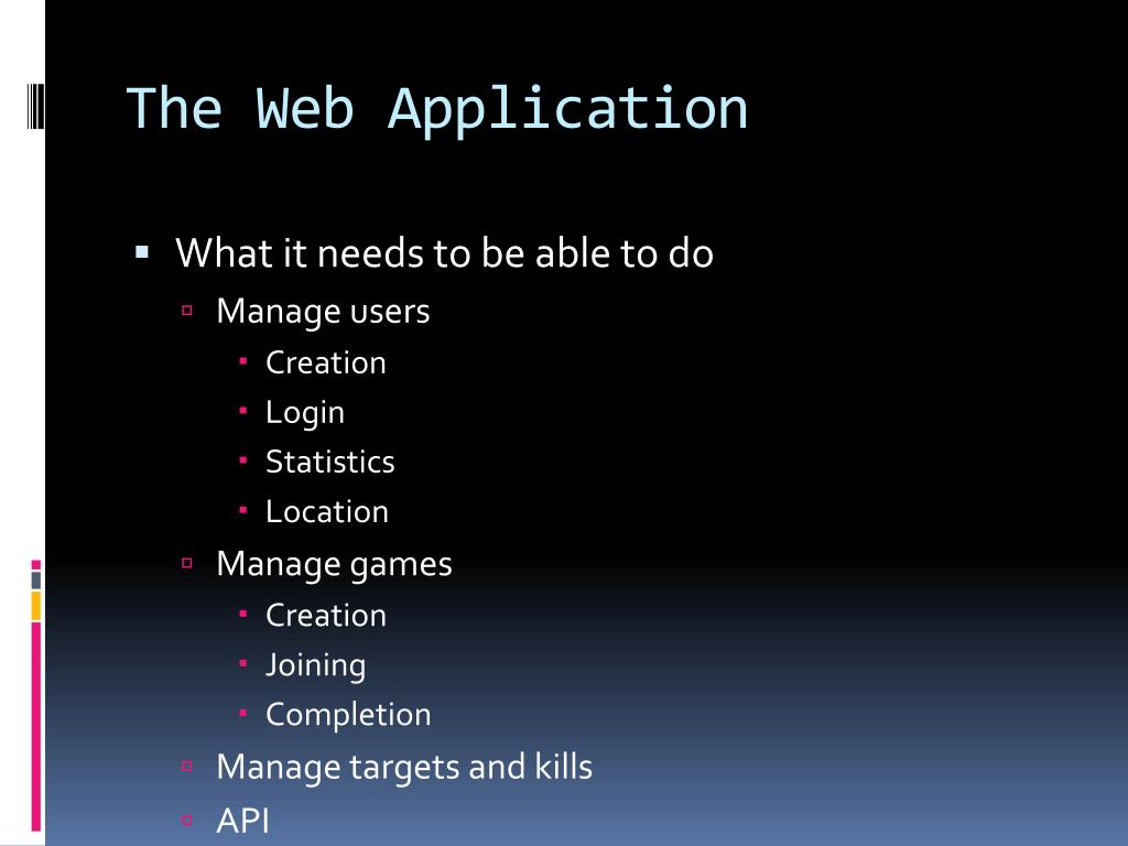 The Web Application