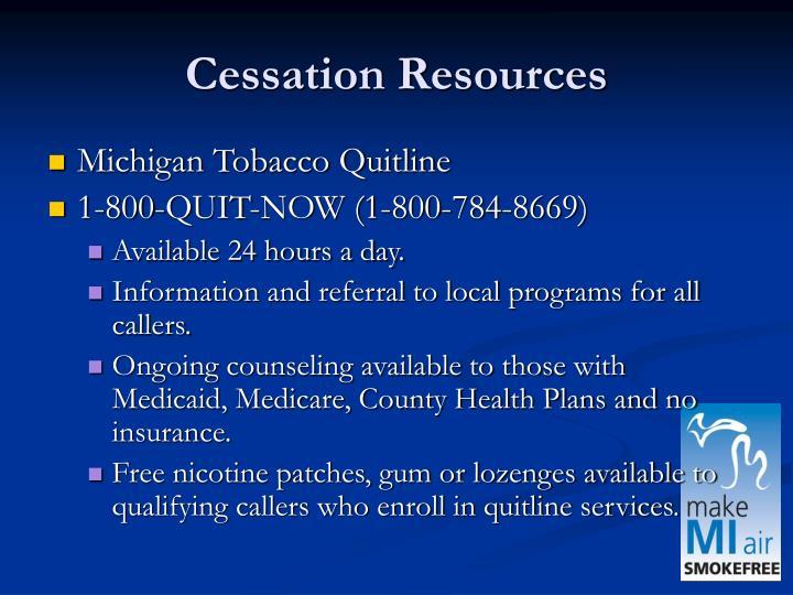 Cessation Resources