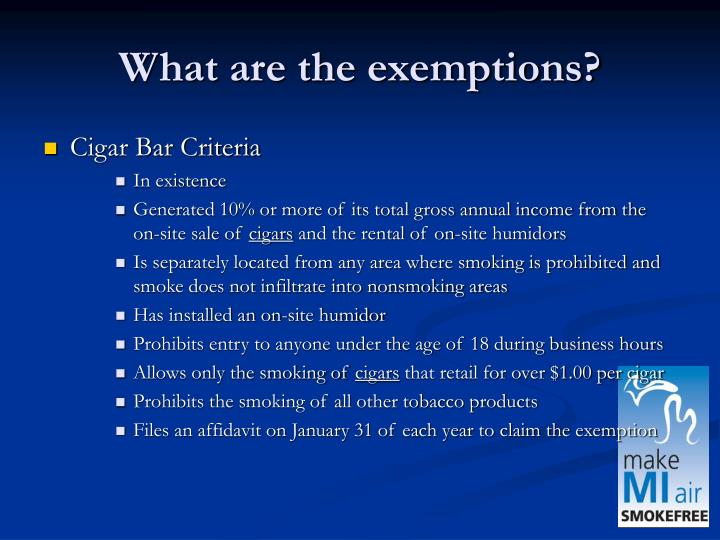 What are the exemptions?