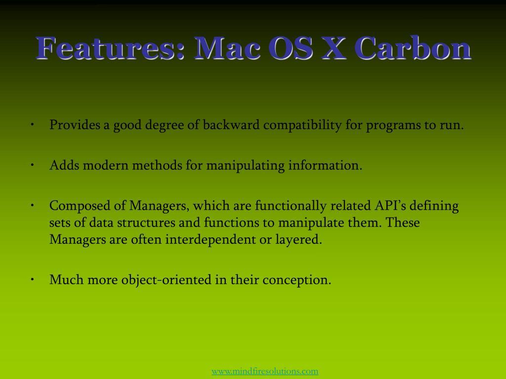 Features: Mac OS X Carbon