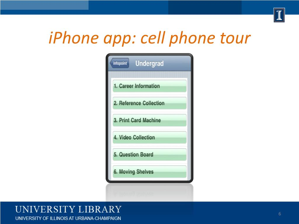 iPhone app: cell phone tour