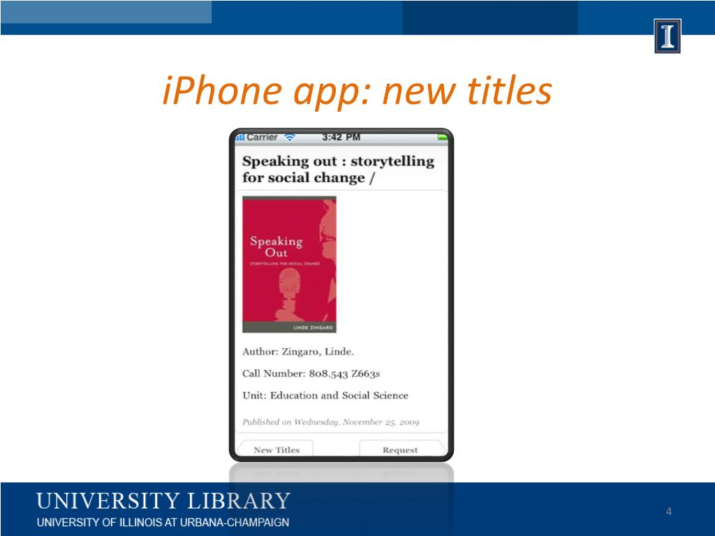 iPhone app: new titles