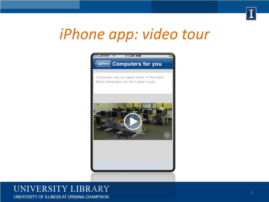 iPhone app: video tour