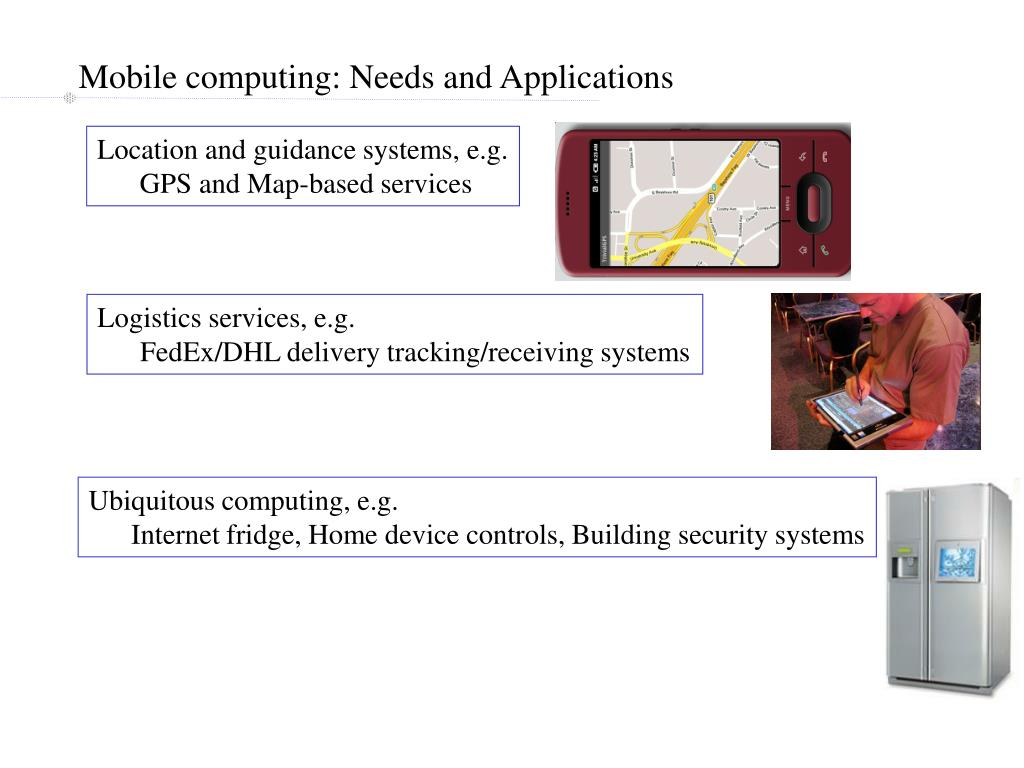 Mobile computing: Needs and Applications