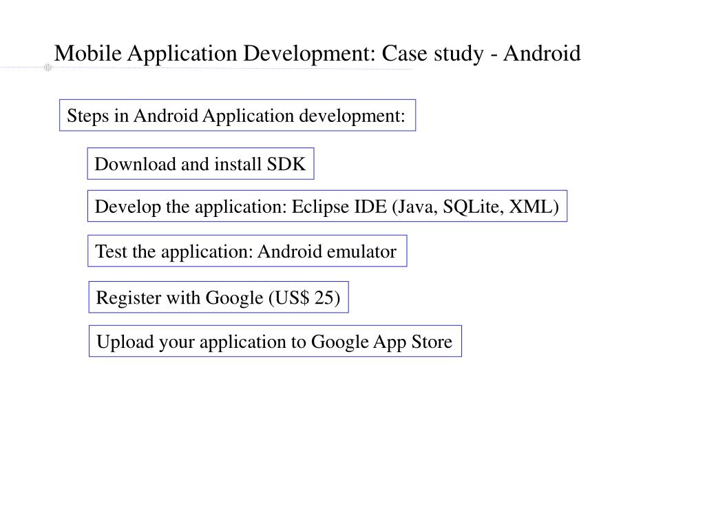Mobile Application Development: Case study - Android