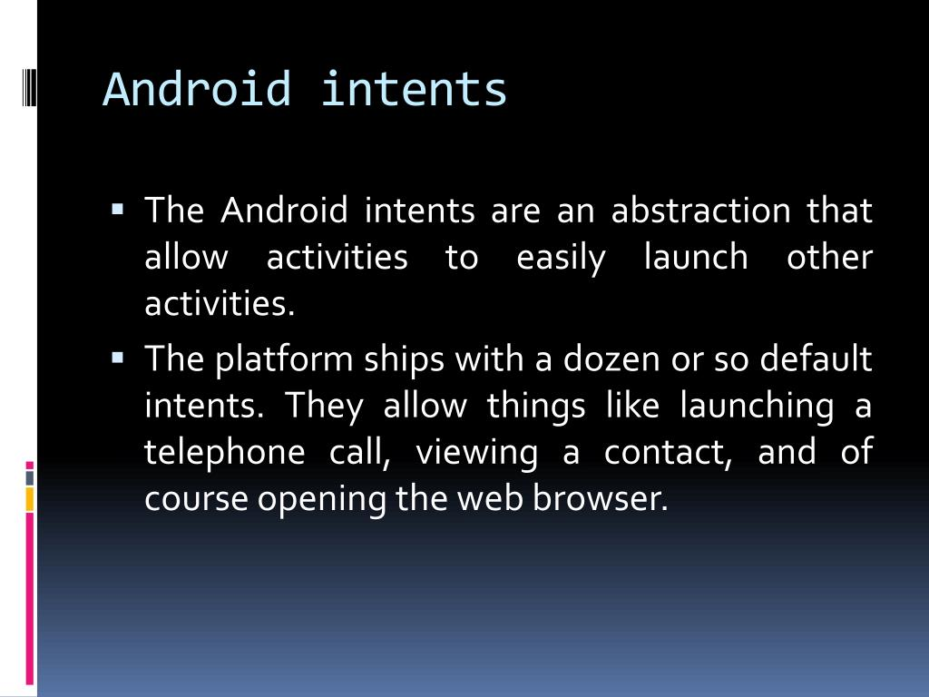 Android intents