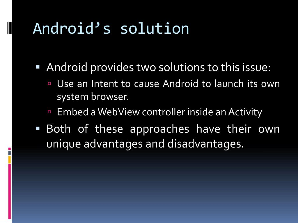 Android's solution