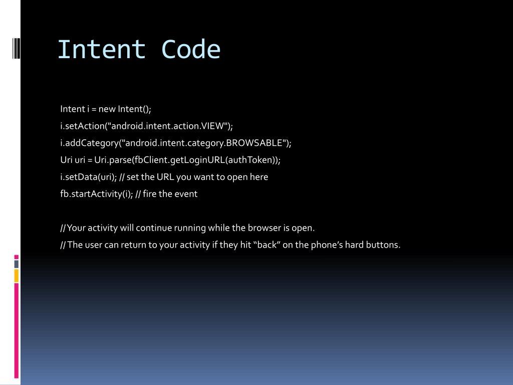 Intent Code