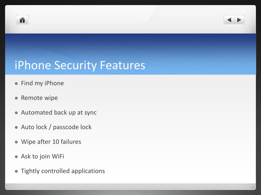 iPhone Security Features