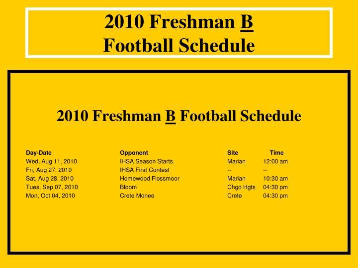 2010 Freshman